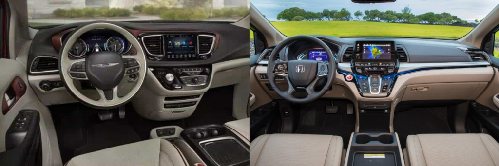 2020 Chrysler Pacifica vs 2020 Honda Odyssey - Interior