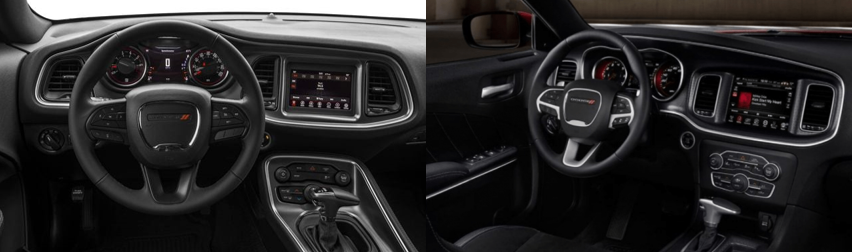 Challenger vs Charger Interior