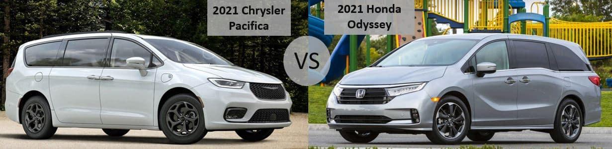 2021 Chrysler Pacifica vs 2021 Honda Odyssey