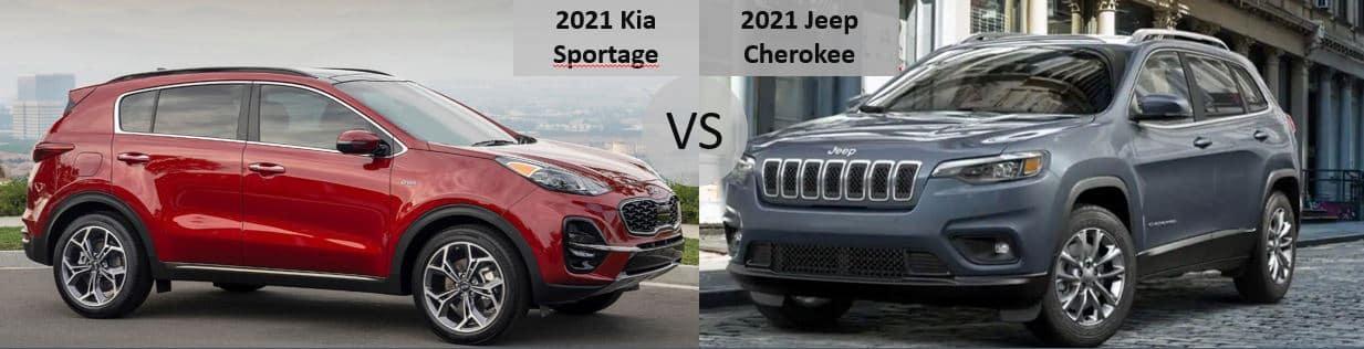 2021 Kia Sportage vs 2021 Jeep Cherokee