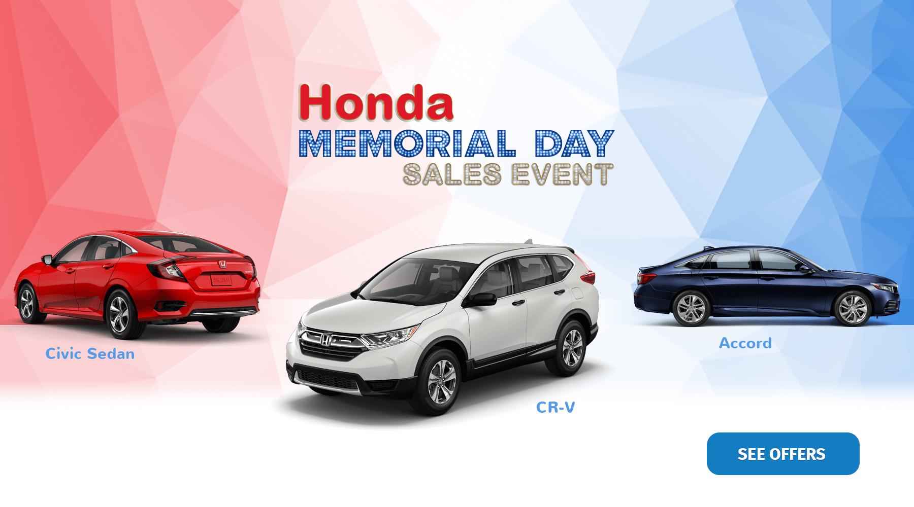 2019 Honda Memorial Day Sales Event Hawaii Honda Dealers HP Slide