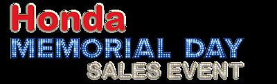 Honda Memorial Day Sales Event Logo