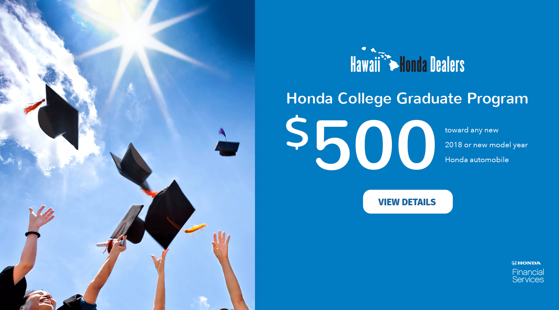 Honda College Graduate Program Hawaii Honda Dealers HP Slide