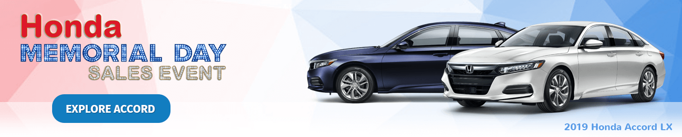 Honda Memorial Day Sales Event 2019 Accord Banner