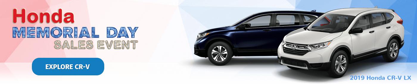 Honda Memorial Day Sales Event 2019 CR-V Banner