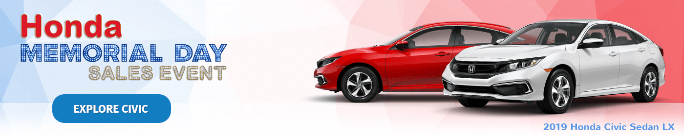 Honda Memorial Day Sales Event 2019 Civic Sedan Banner