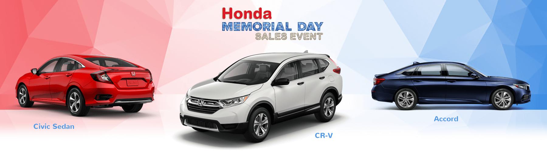 2019 Honda Memorial Day Sales Event Slider