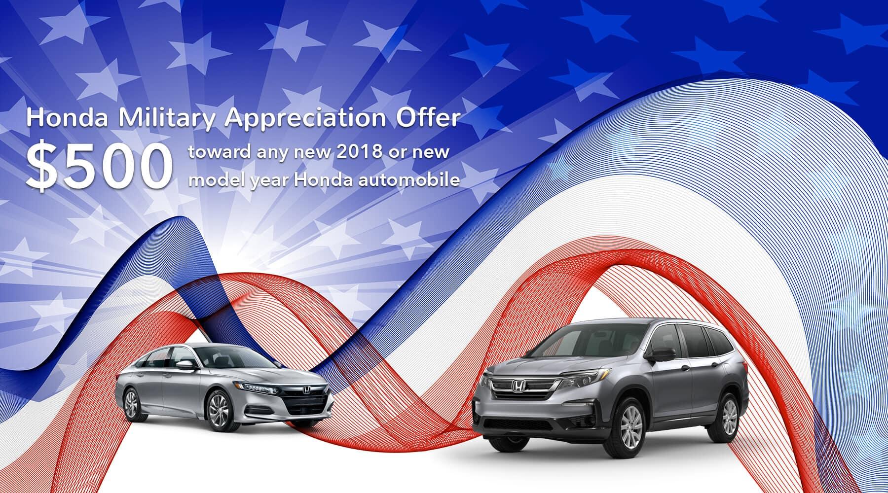 Honda Military Appreciation Offer Hawaii Honda Dealers HP Slide
