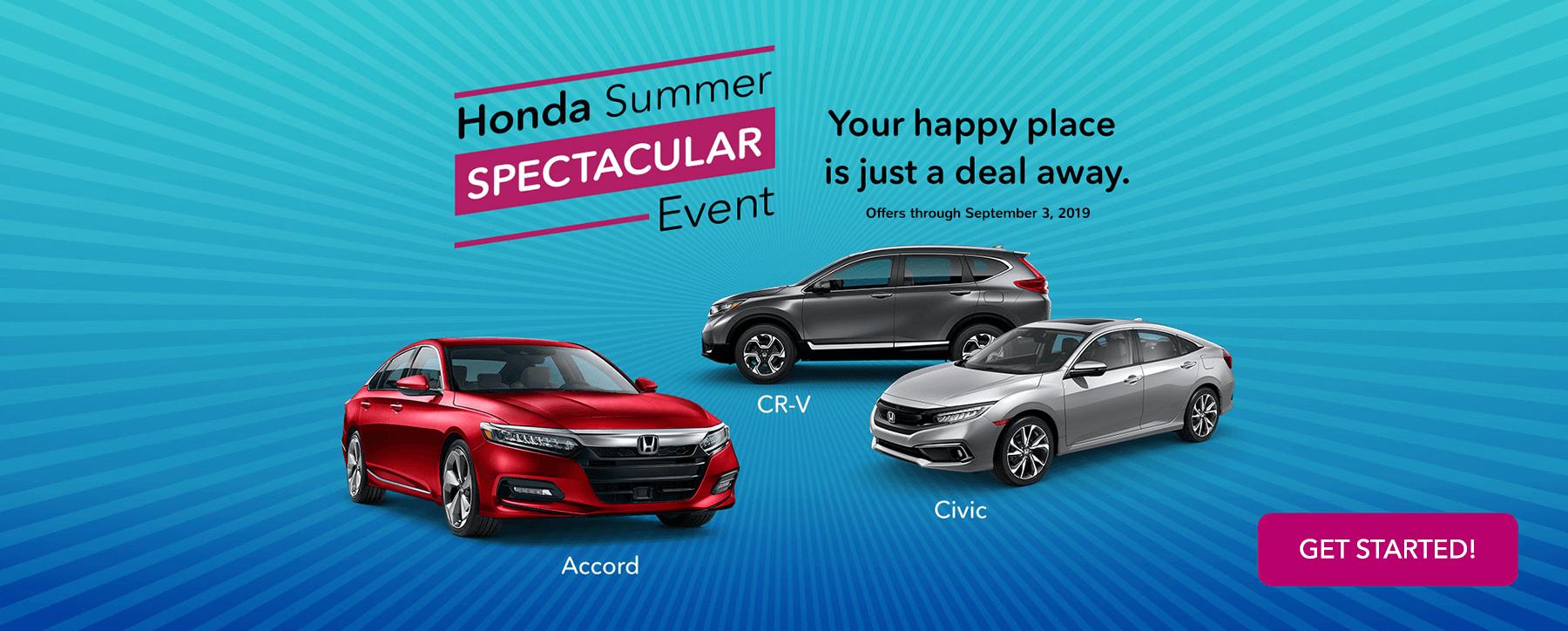2019 Honda Summer Spectacular Event Banner