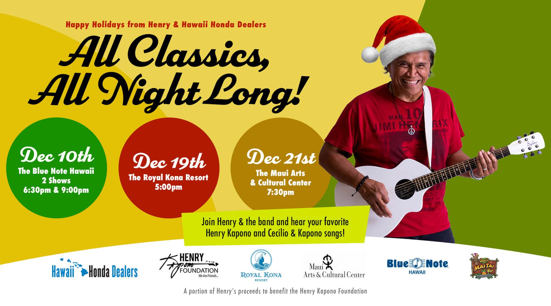 Henry Kapono Holiday Events HP Slide