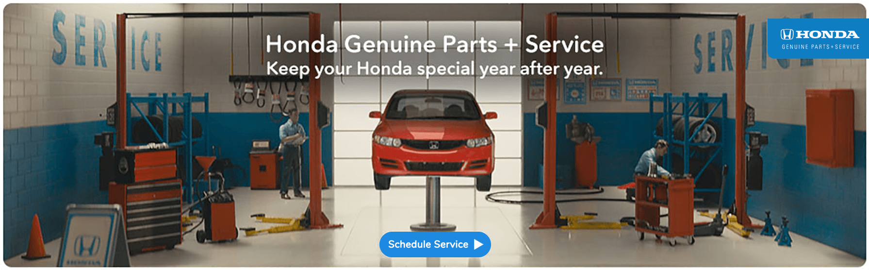 Genuine Honda Parts and Service Banner