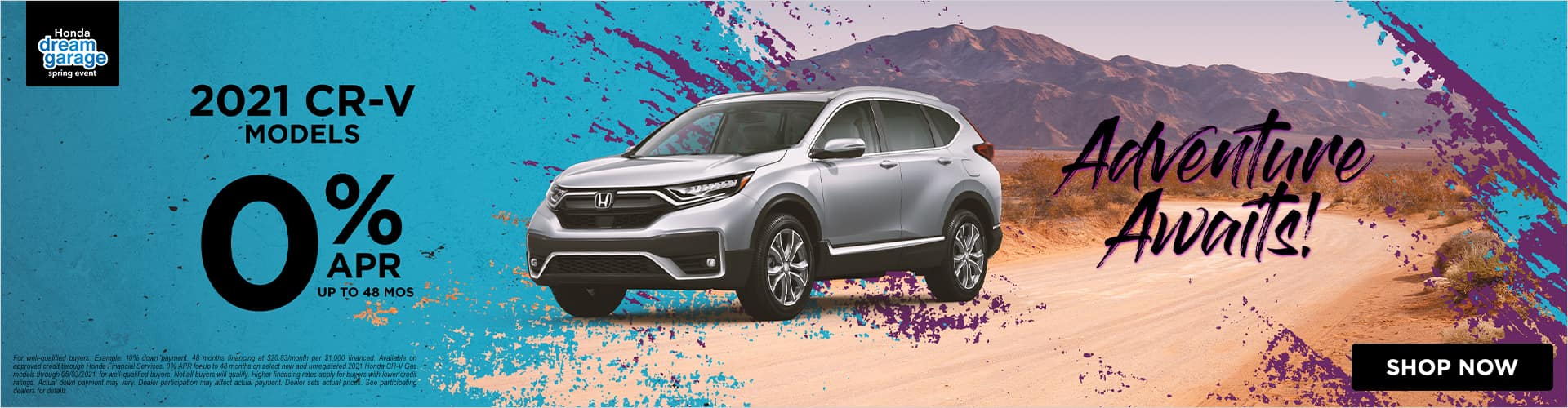 0% APR on the 2021 Honda CR-V