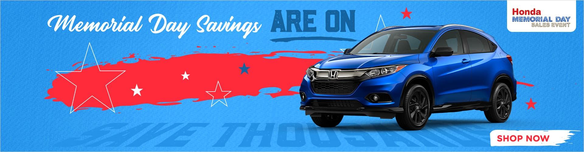 Memorial Day Savings are on at Honda