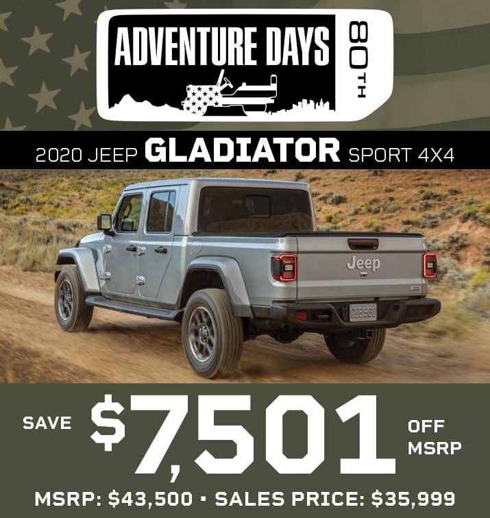Gladiator $7,501 off MSRP