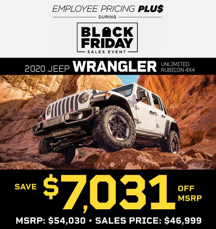NEW 2020 JEEP WRANGLER UNLIMITED RUBICON 4X4 STOCK # 202080 MSRP $54,030 SALES PRICE $46,999