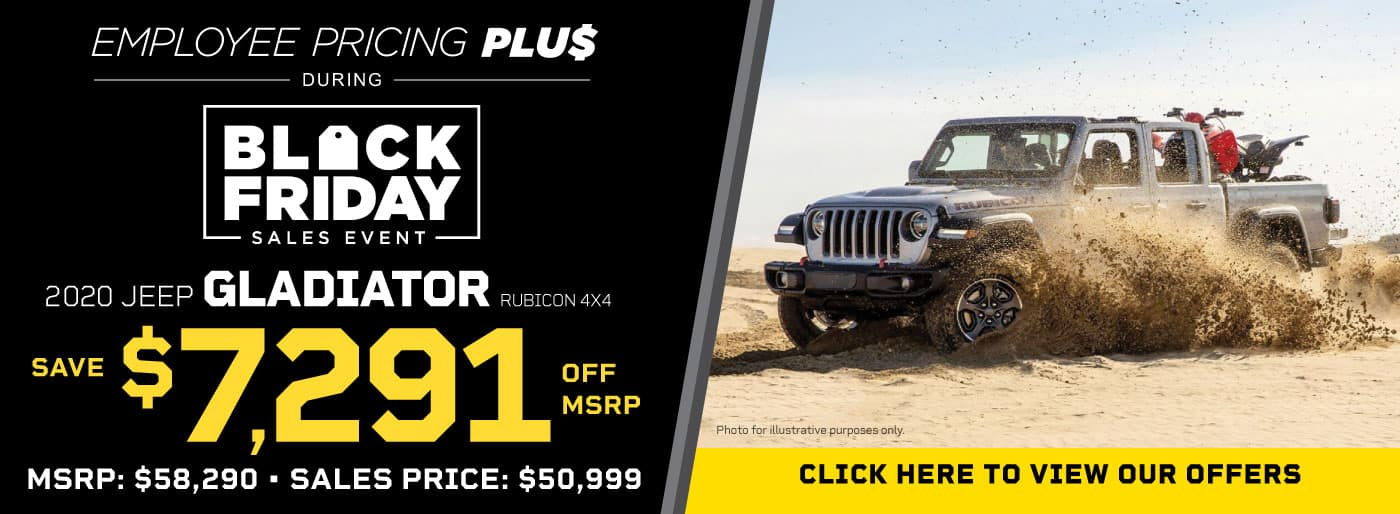 NEW 2020 JEEP GLADIATOR RUBICON 4X4 STOCK # 202107 MSRP $58,290 SALES PRICE $50,999