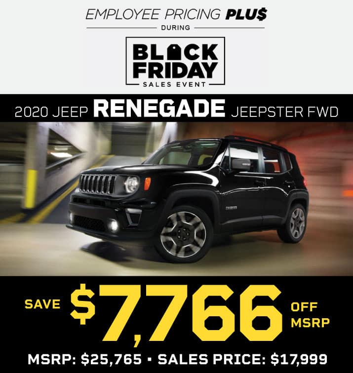 NEW 2020 JEEP RENEGADE JEEPSTER FWD STOCK 202430 MSRP $25,765 SALES PRICE $17,999
