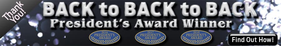 Back to Back to Back President's Award