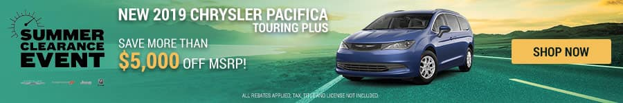 New 2019 Chrysler Pacifica Special Offers