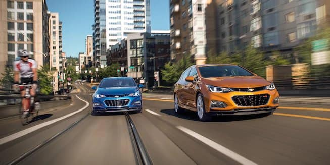 2018 Chevrolet Cruze Sedan And Hatchback on Road