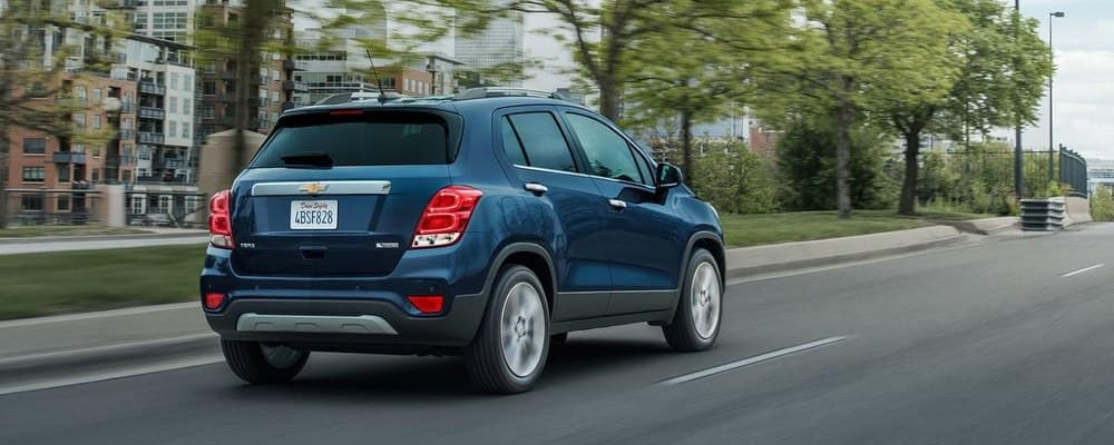 2018 Chevy Trax on road