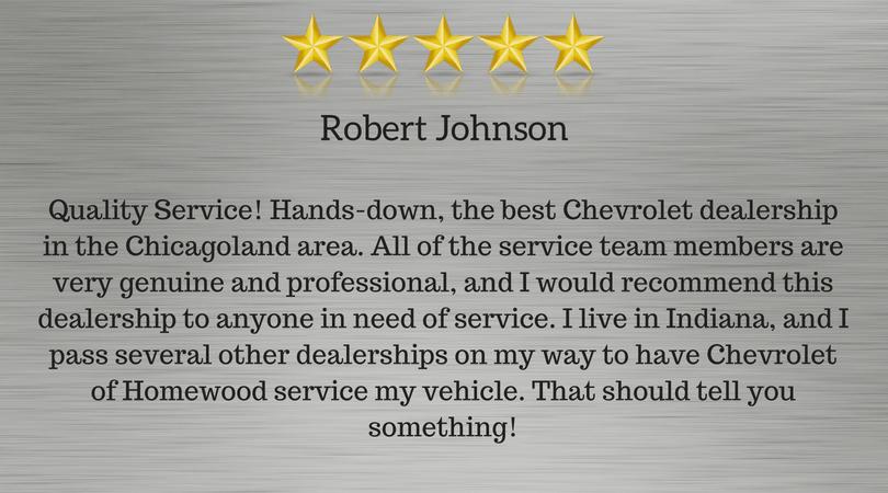Robert J Review of Homewood Chevrolet