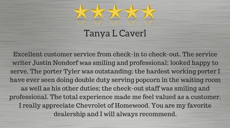 Tonya C Review of Homewood Chevrolet