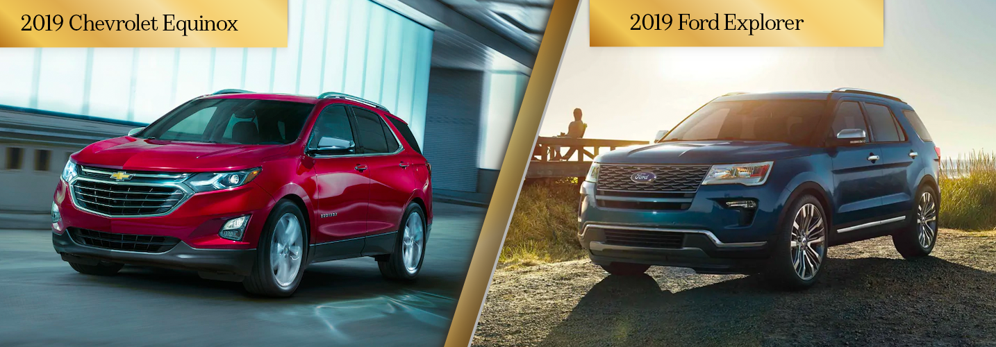 Compare the 2019 Chevy Equinox vs 2019 Ford Explorer Chicago IL