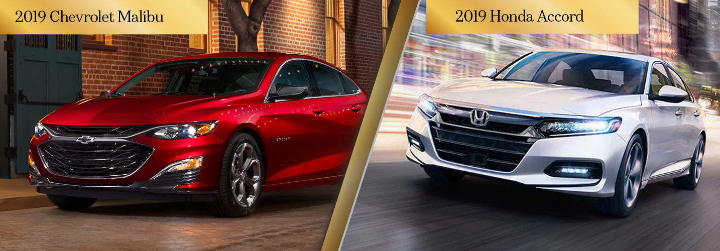 Compare the 2019 Chevy Malibu vs 2019 Honda Accord Chicago IL