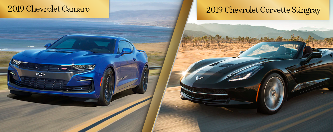 Comparison of Chevy Performance Cars 2019 Chevy Camaro vs. 2019 Chevy Corvette Stingray Chicago IL