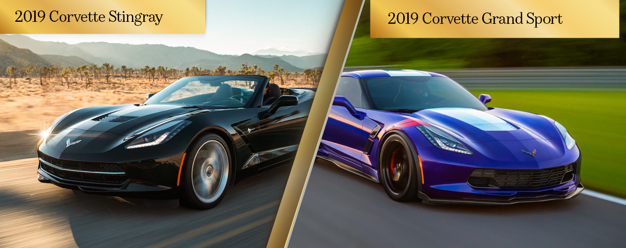 Compare the 2019 Chevrolet Corvette Stingray and 2019 Chevrolet Corvette GrandSport Chicago IL