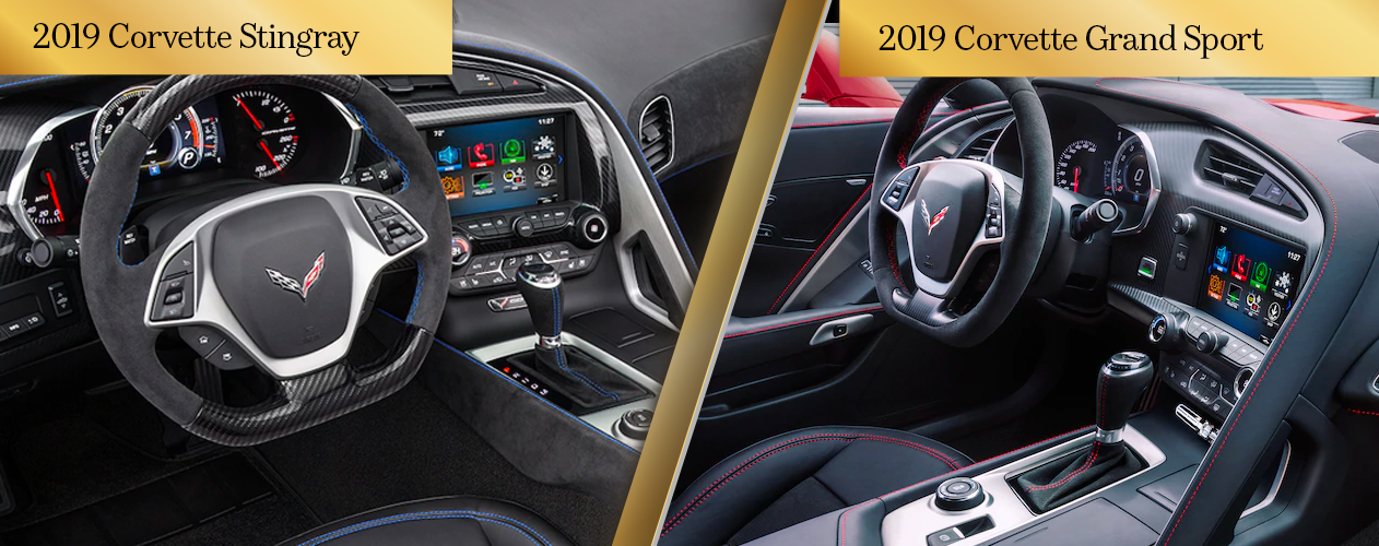 2019 Chevrolet Corvette Stingray vs. 2019 Chevrolet Corvette GrandSport Interior Style and Comfort Chicago IL