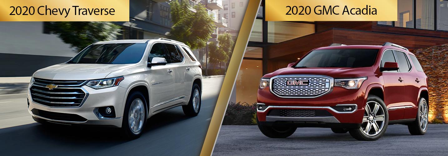 2020 Chevy Traverse vs 2020 GMC Acadia Comparisons