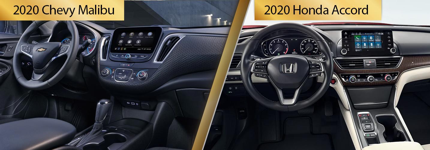 Compare 2020 Chevy Malibu vs 2020 Honda Accord