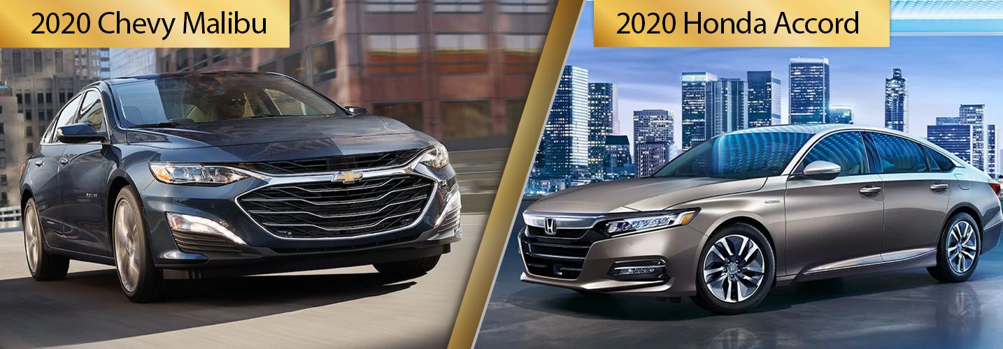 Contrast 2020 Chevy Malibu vs 2020 Honda Accord