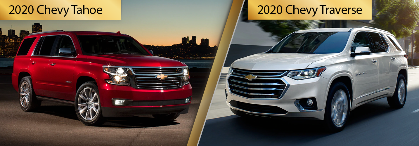 2020 Chevy Tahoe vs 2020 Chevy Traverse