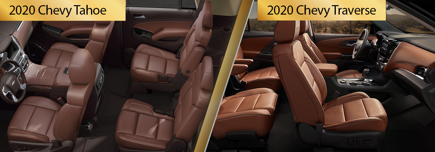 Compare 2020 Chevy Tahoe vs 2020 Chevy Traverse
