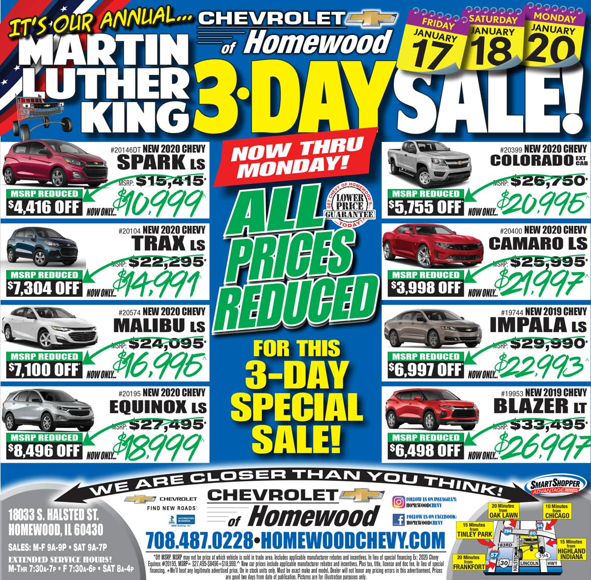 Chevy of Homewood weekly ad