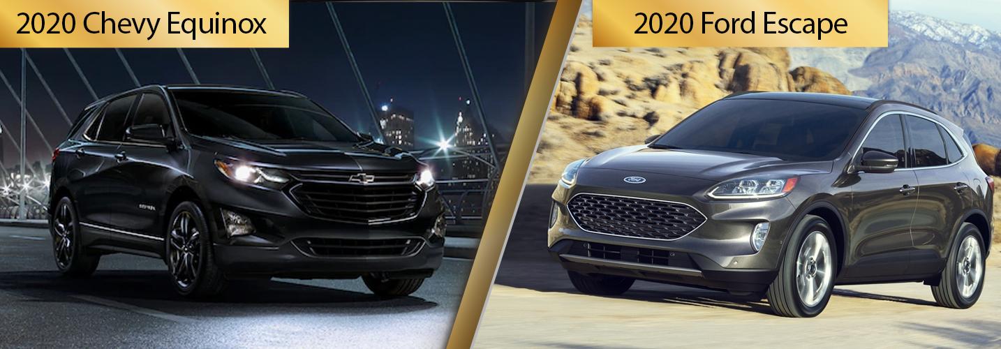 2020 Chevy Equinox vs 2020 Ford Escape Comparisons