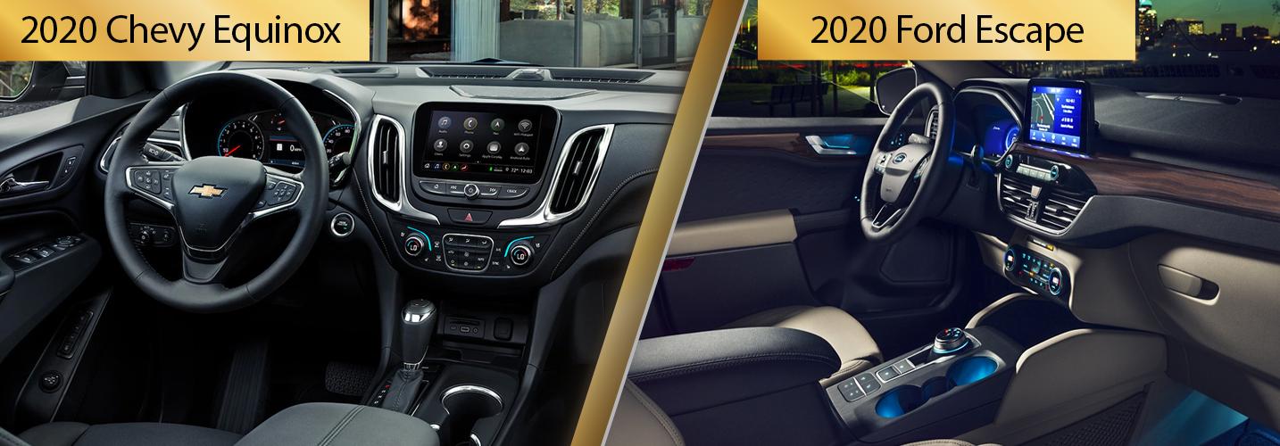 2020 Equinox vs 2020 Escape Interior