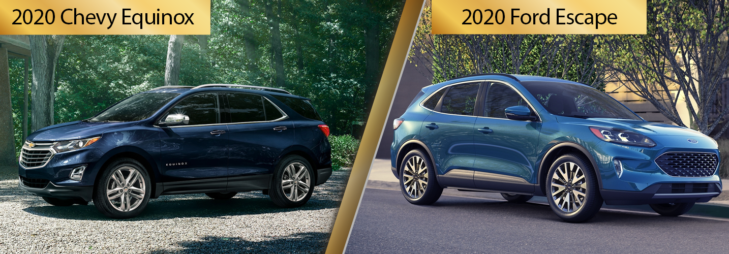 2020 Chevy Equinox vs 2020 Ford Escape Contrasts