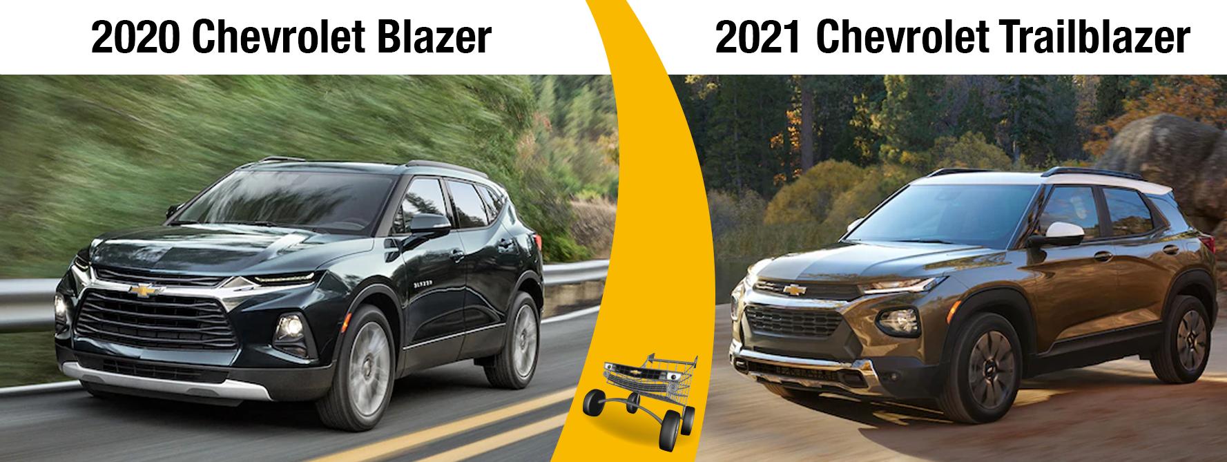 2020 Chevy Blazer Vs 2021 Chevy Trailblazer Chevrolet Of Homewood