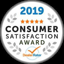 2019 Dealer Rater Customer Satisfaction Award
