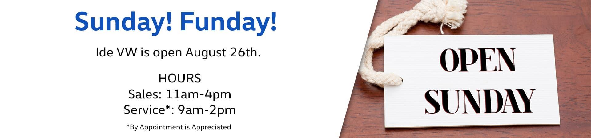 Dealerships Open On Sunday >> Vw Open On Sunday Rotator Ide Vw Of East Rochester Ide Family Of