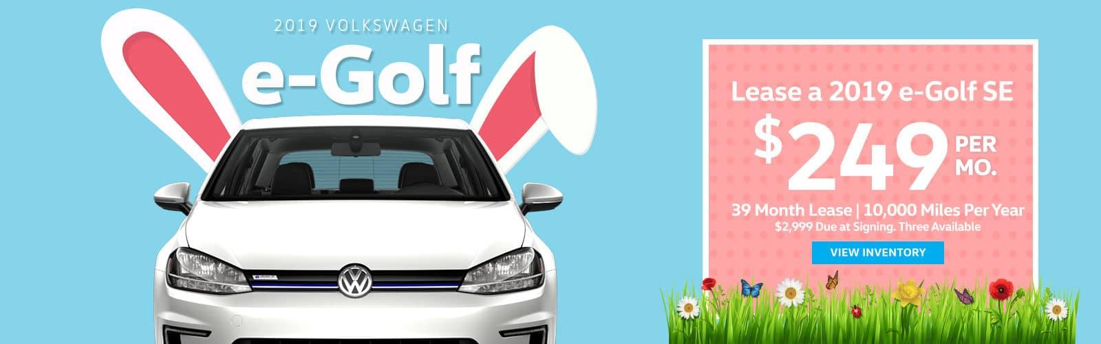 E-Golf Offer