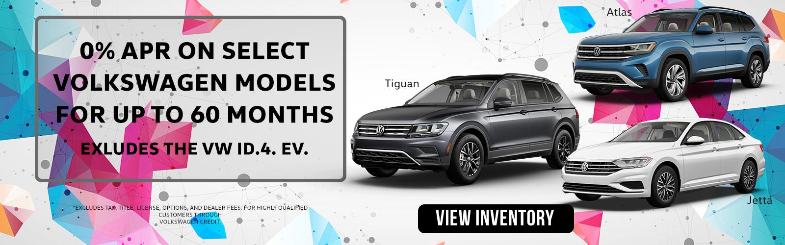 0% APR 60 months Ide VW