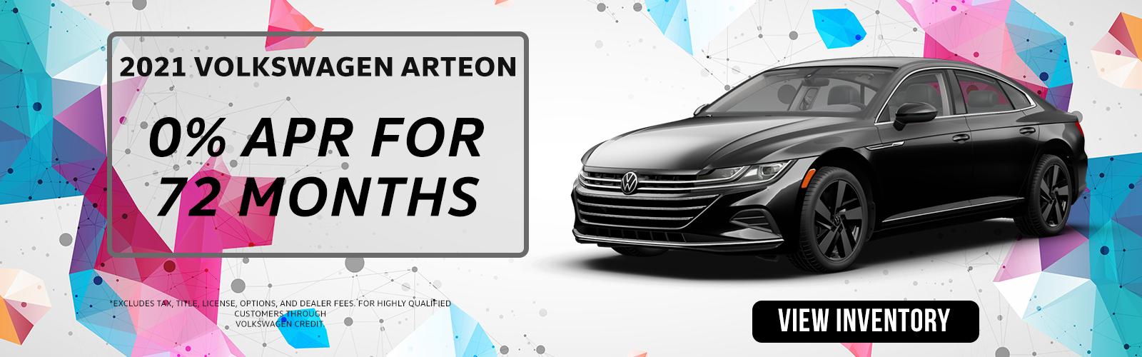 2021 Arteon 0% ARP 72 mt Ide VW
