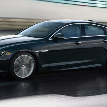 2018 Jaguar XJ Side Profile view driving