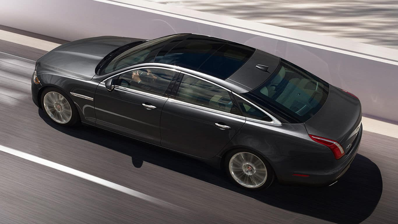 2018 Jaguar XJ Top driving view