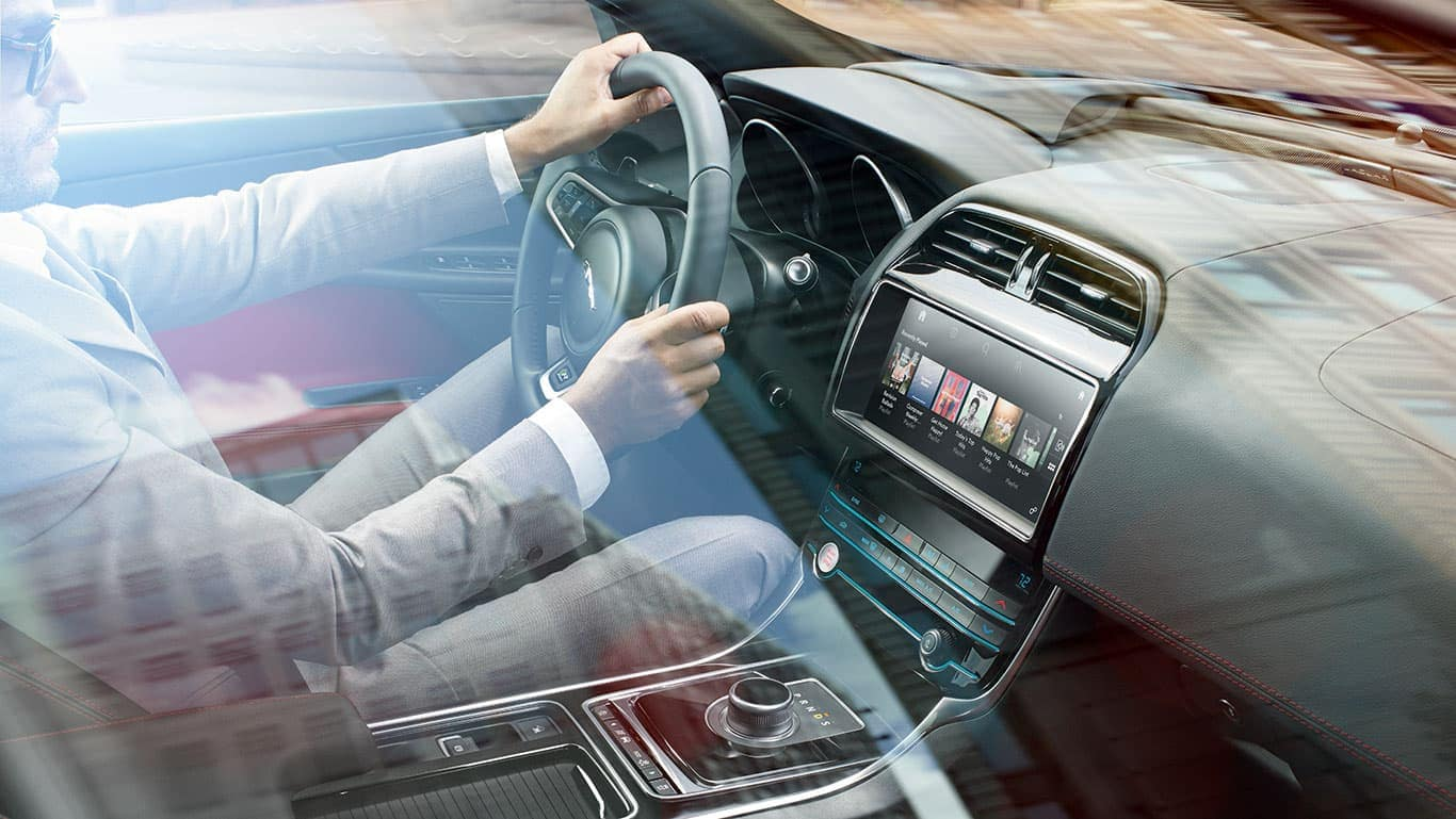 2019 Jaguar XE Interior Features of Man Driving